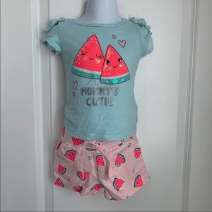 Carters watermelon 2 piece outfit